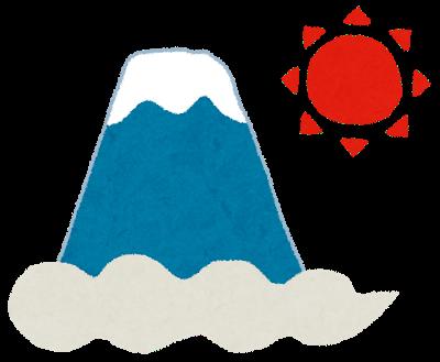 正月・富士山